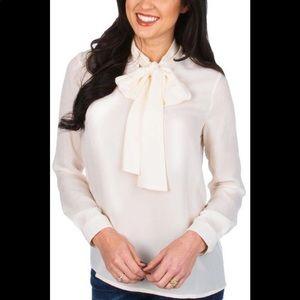 Lauren James Margot top tie neck